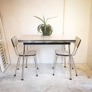 14900527 1046172505508191 3191059780858158423 n 300x300 Tabo Belgium Extension Dining Table & 2 Chair Set 1960s